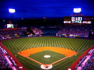 Angel Stadium, Anaheim CA. by Flickr user bfick